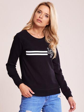 Czarna bluza bawełniana z nadrukiem LOS ANGELES