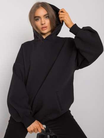 Czarna bluza damska z kapturem Michele