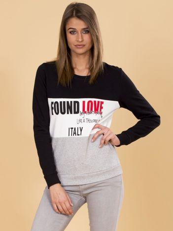 Czarna bluza damska z napisami