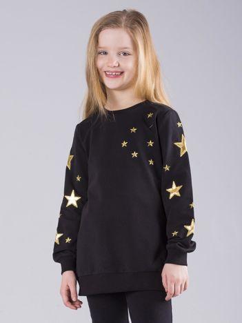 Czarna bluza dziecięca w gwiazdki