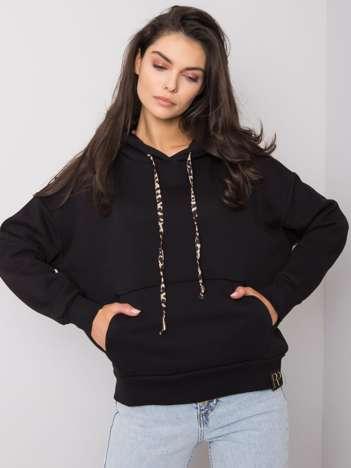 Czarna bluza kangurka Cintia RUE PARIS