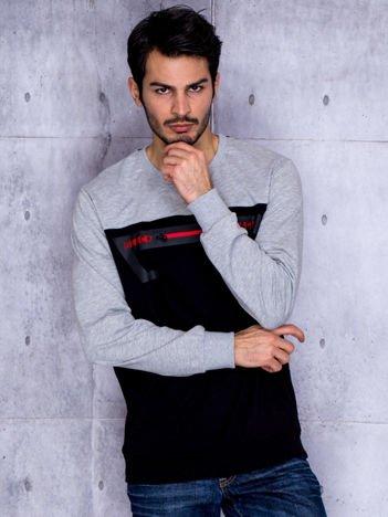 Czarna bluza męska z suwakiem