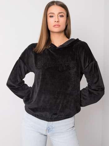 Czarna bluza welurowa Adina