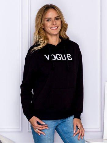 Czarna bluza z kapturem VOGUE