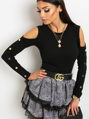 Czarna bluzka Athena
