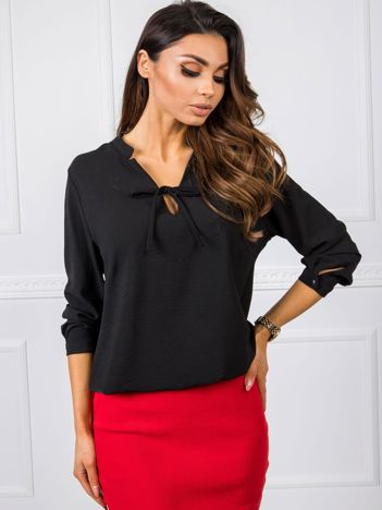 Czarna bluzka Henrietta RUE PARIS