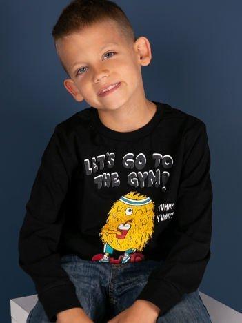 Czarna bluzka dla chłopca z bawełny