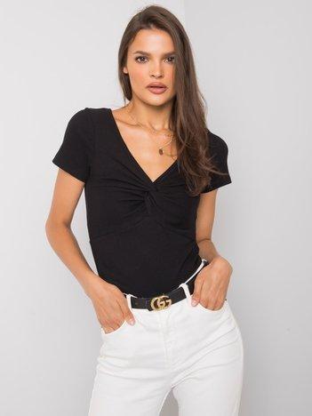 Czarna bluzka na co dzień Sandra