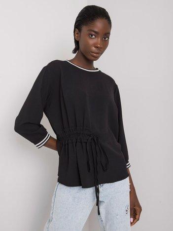 Czarna bluzka ze ściągaczem Bettina RUE PARIS