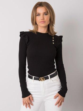 Czarna damska bluzka z bawełny Andrada