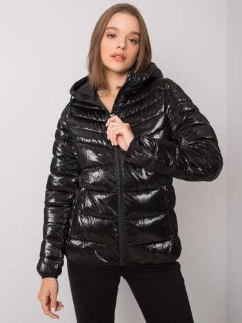 Czarna damska kurtka pikowana Leyre