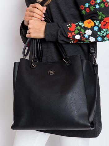 Czarna damska torba z ekoskóry