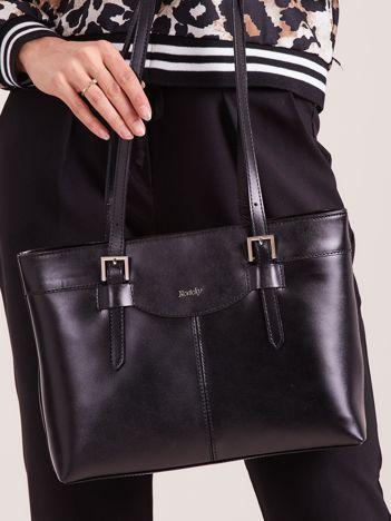 Czarna elegancka torebka za skóry