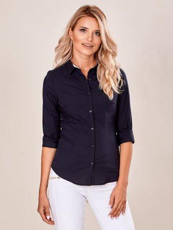 Czarna gładka koszula damska