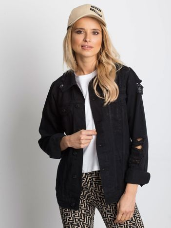 Czarna kurtka jeansowa Pairing
