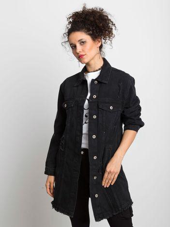 Czarna kurtka jeansowa Source