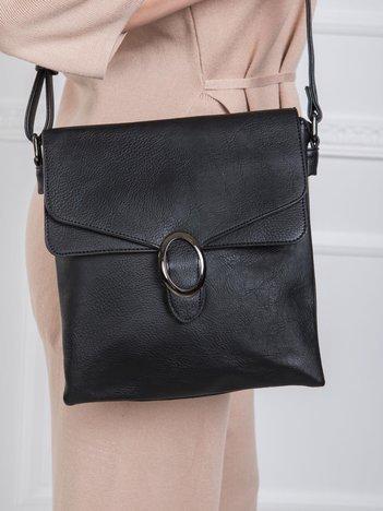 Czarna mała torebka z eco skóry