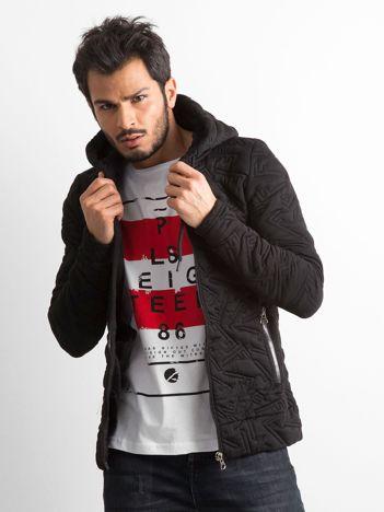 Czarna męska bawełniana bluza z kapturem
