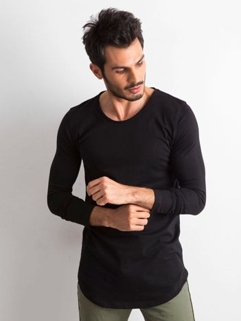 Czarna męska bluzka z długim rękawem