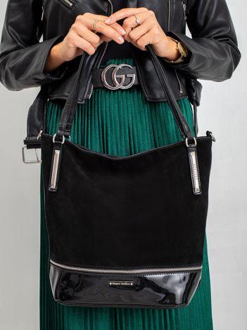 Czarna miejska torebka damska