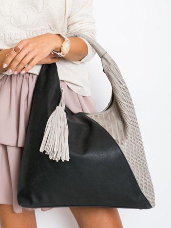 Czarna miękka torba damska na ramię