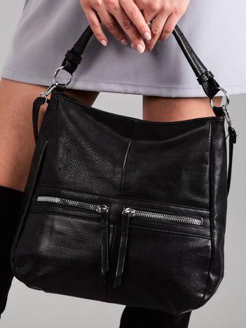 Czarna miękka torba z suwakami
