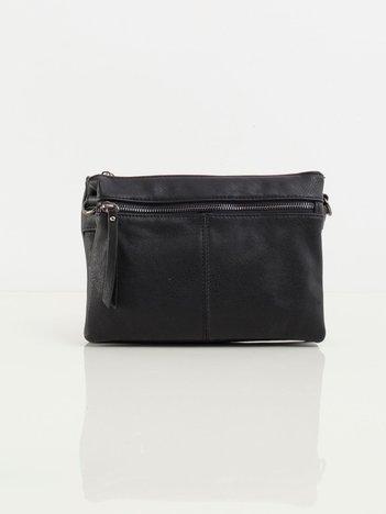 Czarna podłużna torebka z ekoskóry