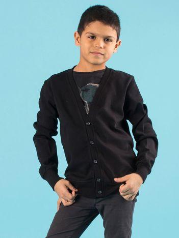 Czarna rozpinana bluza chłopięca