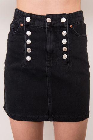 Czarna spódnica jeansowa BSL