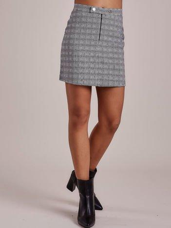 Czarna spódnica mini w kratkę