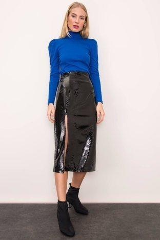 Czarna spódnica z rozcięciem BSL