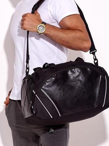 Czarna sportowa torba męska