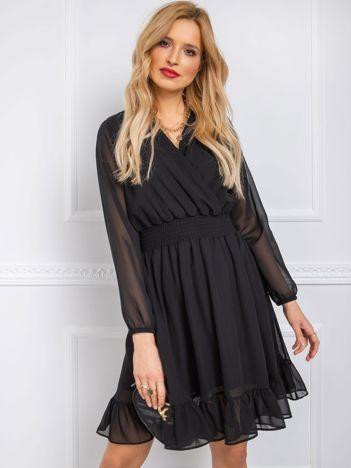 Czarna sukienka Poetic RUE PARIS