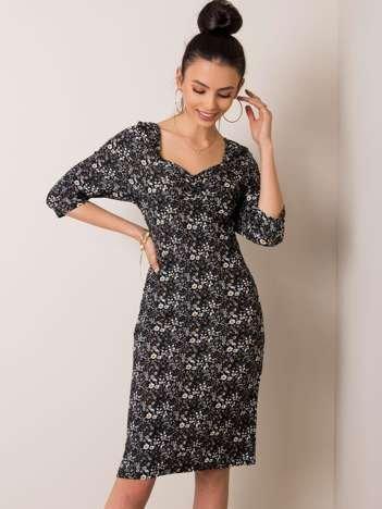Czarna sukienka Saphira RUE PARIS