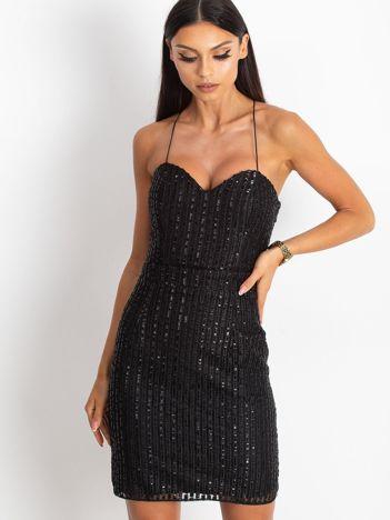Czarna sukienka Sequin