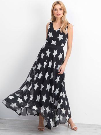 Czarna sukienka Stardust