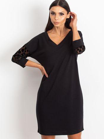 Czarna sukienka Stream