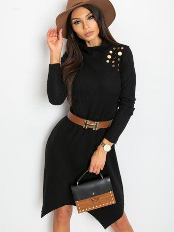 Czarna sukienka Una