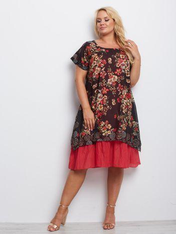 Czarna sukienka plus size Anchor