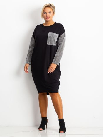 Czarna sukienka plus size Desire