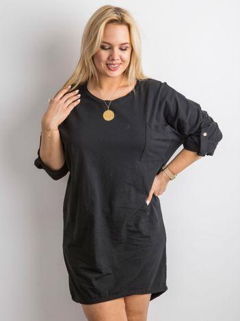 Czarna sukienka z bawełny