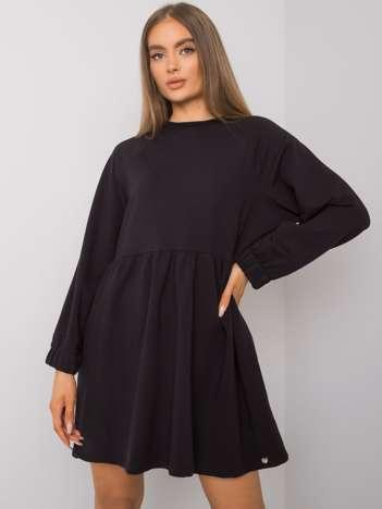 Czarna sukienka z długim rękawem Bellevue