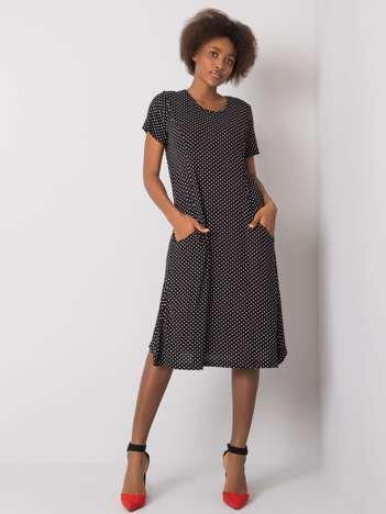 Czarna sukienka z wiskozy Arlena