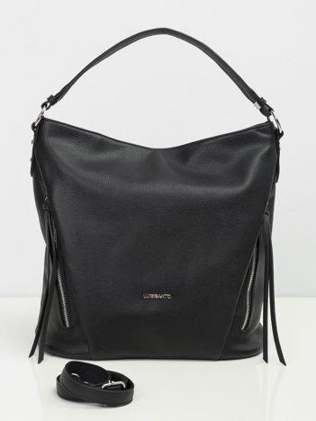Czarna torba damska z ekologicznej skóry