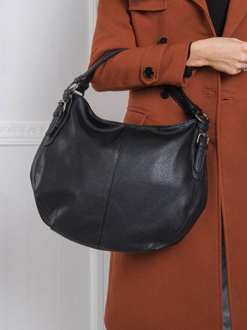 Czarna torba damska ze skóry ekologicznej