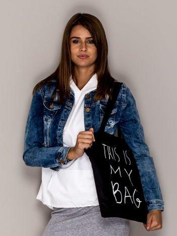 Czarna torba materiałowa THIS IS MY BAG
