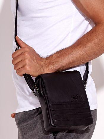 Czarna torba męska ze skóry naturalnej