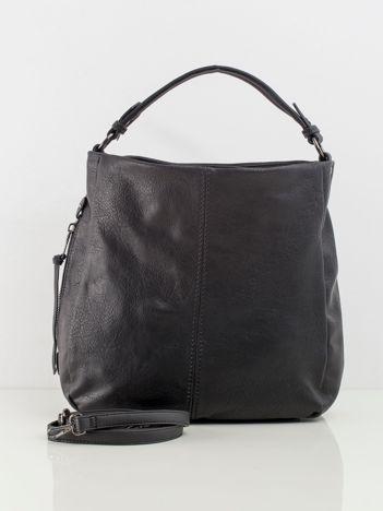 Czarna torba z ekologicznej skóry