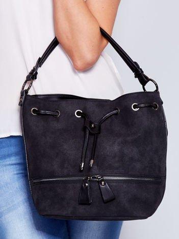 Czarna torba z suwakami
