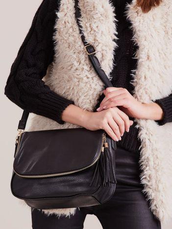 Czarna torebka damska z chwostem
